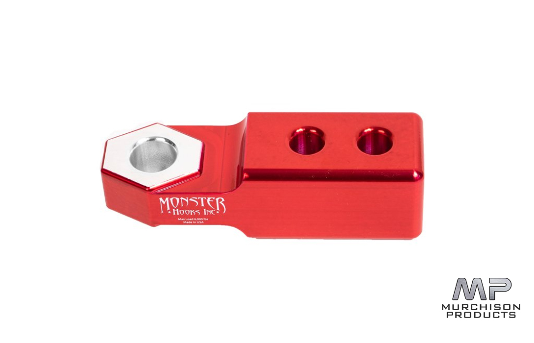 Monster Tow Bar Hitch 50mm, Cherry Red