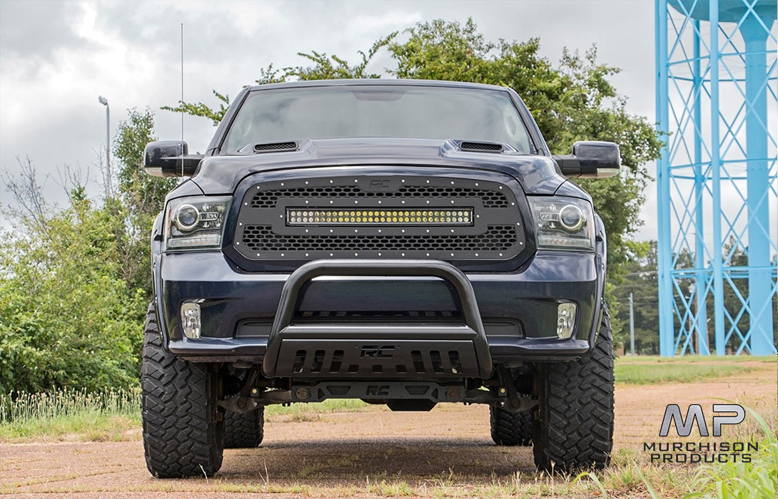 "Rough Country Ram 1500 / 2500 / 3500 Mesh Grill with 30"" LED Bar"