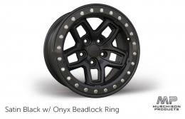 AEV JL Wrangler Borah Wheel - Satin Black with Onyx Beadlock RIng