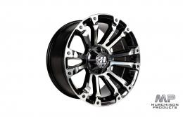 Hussla Ambush Wheel - Gloss Black / Machined 18x9