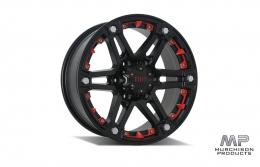 Tuff T-01 Wheel - Black/Red